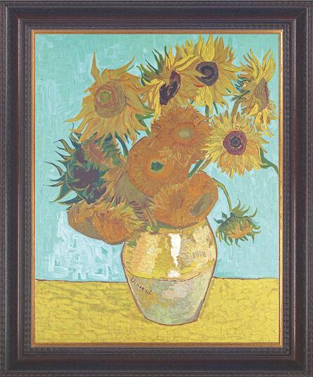 """Vincent van Gogh: Bild """"Vase mit Sonnenblumen"""" (1888), gerahmt"""