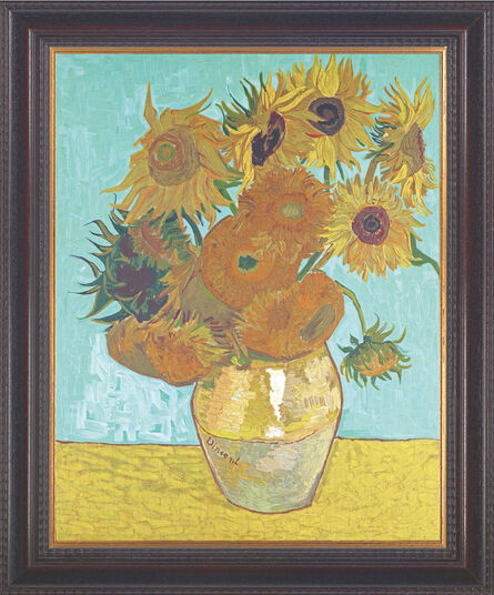 vincent van gogh bild vase mit sonnenblumen 1888 gerahmt ars mundi. Black Bedroom Furniture Sets. Home Design Ideas