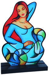 "Sculpture ""Blue Wave"", Acrylic Glass"