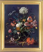 """Bild """"Blumenvase"""" (um 1660), gerahmt"""
