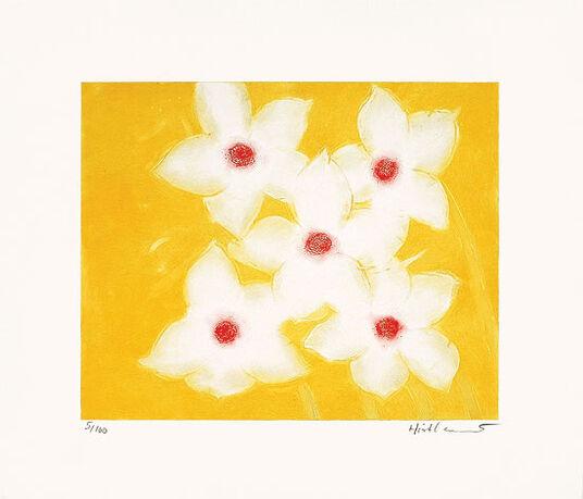 """Josef Hirthammer: Bild """"Fünfmal Weiß auf Gelb"""" (2000)"""