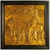 """Wandrelief """"Moses empfängt auf dem Berg Sinai die Gesetzestafeln"""""""