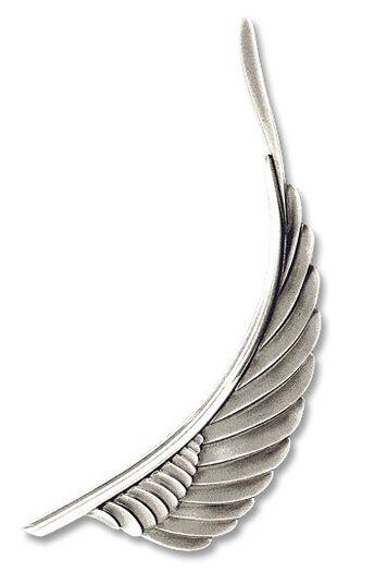 """Paul Wunderlich: Brooch """"Silver Swing"""", 925 sterling silver"""
