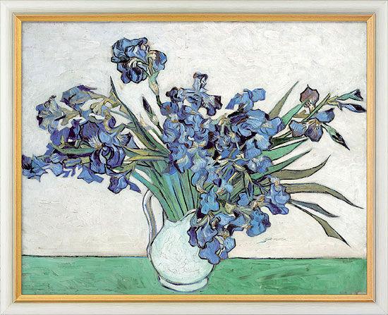 Painting 'Irises' (1890), framed