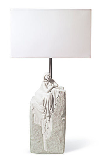 "Lladró: Desk Lamp ""Meditating Woman I"""
