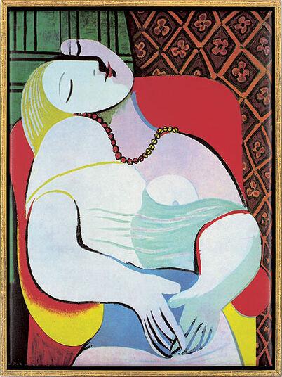 """Pablo Picasso: Bild """"Der Traum"""" (1932), gerahmt"""