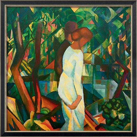"""August Macke: Bild """"Paar im Wald"""" (1912), gerahmt"""