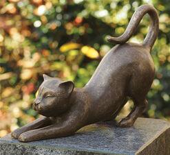 """Gartenskulptur """"Katze"""", Bronze"""