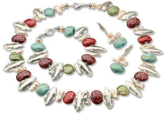 "Anna Mütz: Jewellery set ""Spring"""