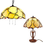 Lamp set 'Natural Amber'