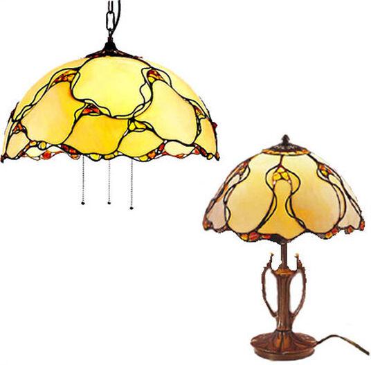 Louis C. Tiffany: Lamp set 'Natural Amber'