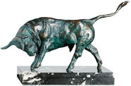 "Sculpture ""Attacking bull"", bronze"
