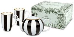 Tealicious black & white: Teekanne und 2 Becher im Set
