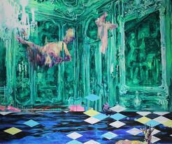 "Bild ""Wasserspringer"" (2014) (Unikat)"
