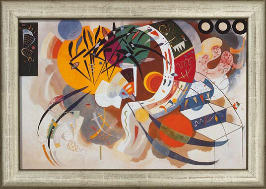 Wassily Kandinsky: Painting 'Courb dominante' (1936), framed