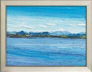 """Bild """"Der Starnberger See - Panorama"""" (2016), gerahmt"""