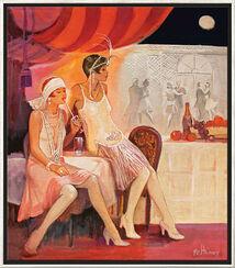 """Bild """"Au Claire de la Lune Nr. 81"""", gerahmt"""