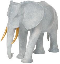 "Skulptur ""Elefant"", Version in Bronze grau"