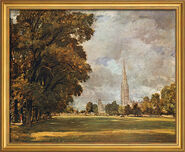 Picture 'Salisbury Cathedral' (1820-21) in the frame