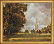 """Bild """"Kathedrale von Salisbury"""" (1820-21), gerahmt"""