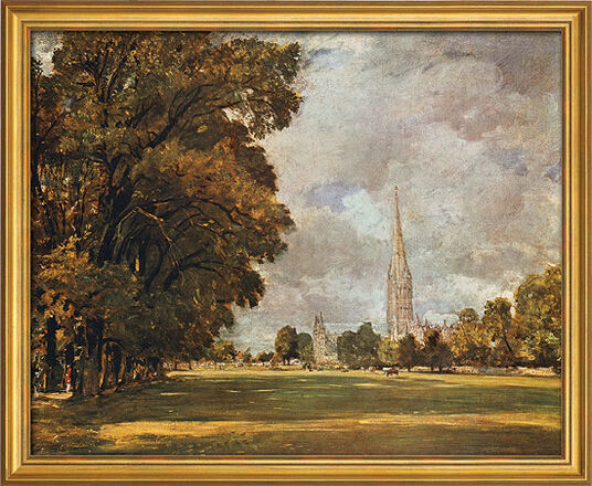 John Constable: Picture 'Salisbury Cathedral' (1820-21) in the frame