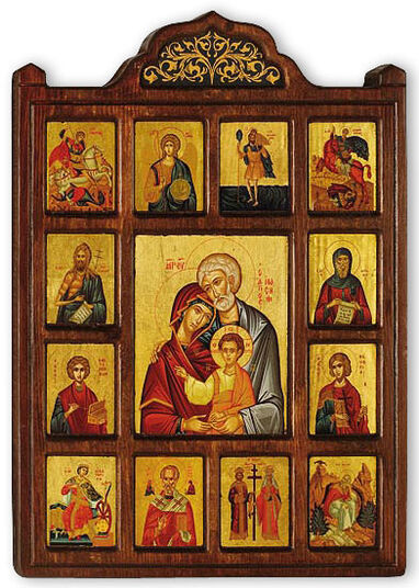 Family icon with Patron Saints