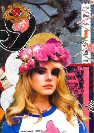 "André Boitard: Bild ""Lana del Rey"" (2014) (Unikat)"