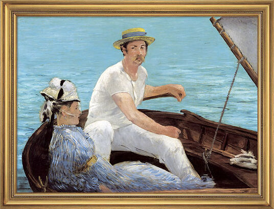 "Edouard Manet: Painting ""Boating"", 1874"
