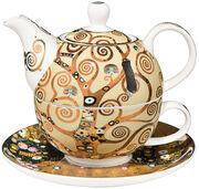 """Teekanne mit integrierter Tasse """"Lebensbaum"""", Porzellan"""