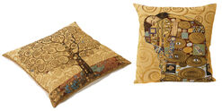 """2 Cushion Covers """"Tree of Life"""" + """"Fulfillment"""" in Set"""