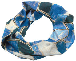 """Loopschal """"Blaue Nacht"""" (1937) - nach Paul Klee"""