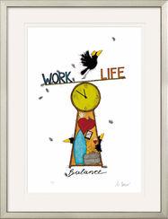 "Bild ""Work Life Balance"", gerahmt"