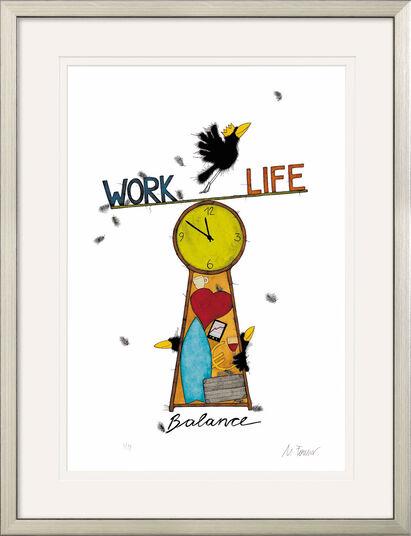 "Michael Ferner: Bild ""Work Life Balance"", gerahmt"