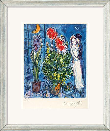 """Marc Chagall: Bild """"Les Mariés"""", gerahmt"""