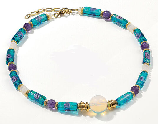 """Petra Waszak: Necklace """"Nympheas"""""""