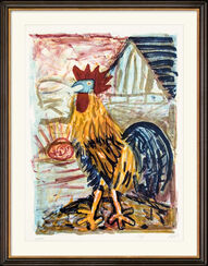 """Bild """"Hahn (vor der Scheune)"""" (1968)"""