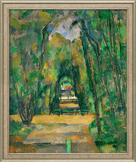 "Paul Cézanne: Bild ""Médan, château et village (Schloss und Dorf Médan)"" (1885), gerahmt"