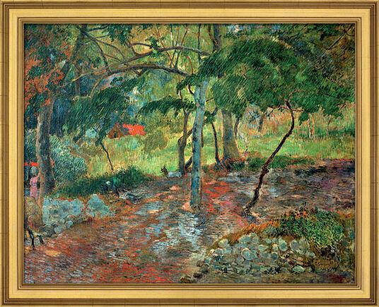 """Paul Gauguin: Bild """"Tropische Landschaft auf Martinique"""" (1887), gerahmt"""