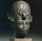 Amenhotep III. with a blue crown
