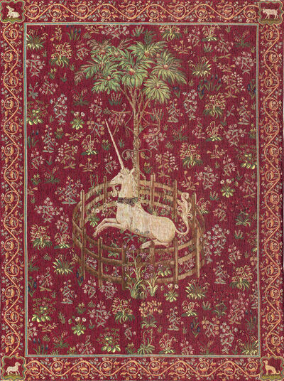 "Tapestry ""The Unicorn in Captivity"", Version in Red"