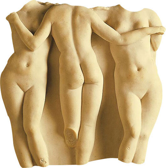 "Replica ""The three Graces"", (reduction), art casting"