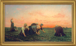 """Bild """"Die Unkrautjäterinnen"""" (1868), gerahmt"""