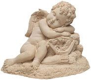 "Garden sculpture ""Sleeping Cupid"", stone molding"