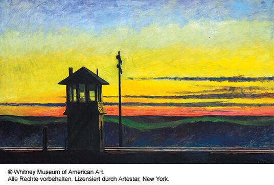 "Edward Hopper: Pictures ""Railroad Sunset"", 1929"