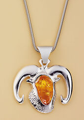 "Amber Necklace ""Aries"""