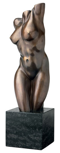 "Peter Hohberger: Sculpture ""Female Torso"", Bronze"