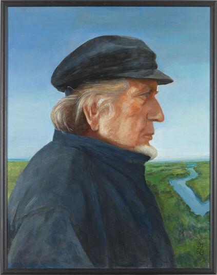 "Gudrun Brüne: Bild ""Der Maler Bernhard Heisig"" (1997) (Unikat)"