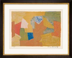 """Bild """"Komposition in Gelb, Orange und Grün"""" (1957)"""