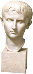"Portrait Head ""Teenager Augustus"", Artificial Casting"