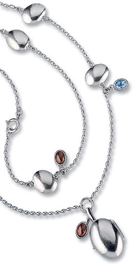 Kirsti Doukas: Necklace with locket 'Father's Daughter', 925 sterling silver